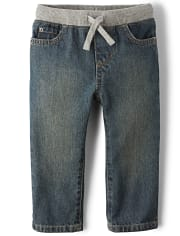 Healthtex baby toddler boy 5 pocket straight fit jean med stone wash size option
