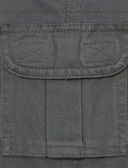 Boys Uniform Pull On Chino Cargo Pants