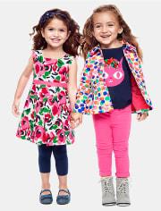 Bailarinas de mezclilla con uniforme para niñas pequeñas