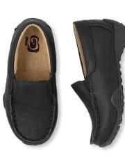 Zapatos de vestir sin cordones uniformes para niños pequeños
