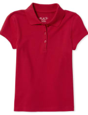 Girls Uniform Pique Polo