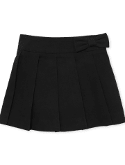 Falda pantalón plisada plisada con lazo uniforme para niñas pequeñas