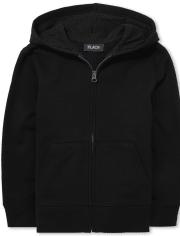 Sudadera con capucha y cremallera uniforme para niños