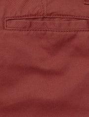 Pantalones chinos ajustados de uniforme para niños