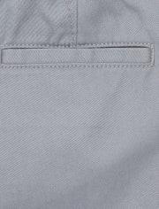Pantalones chinos ajustados de uniforme para bebés y niños pequeños