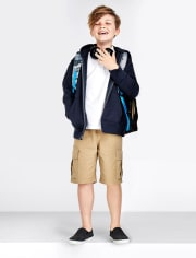 Boys Uniform Pull On Cargo Shorts