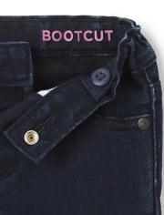 Vaqueros bootcut básicos para bebés y niñas pequeñas