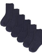 Boys Crew Socks 6-Pack