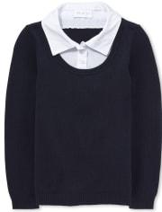 Girls Uniform 2 In 1 Sweater