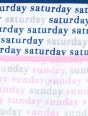 Girls Days Of The Week Glitter Briefs 7-Pack