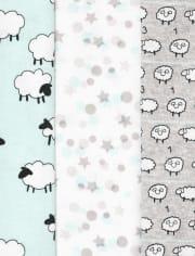 Unisex Baby Counting Sheep Short Sleeve Bodysuit 5-Pack