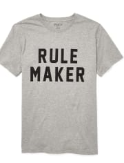 Mens Dad And Me Rule Maker Matching Graphic Tee