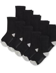 Toddler Boys Crew Socks 10-Pack
