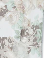 Girls Floral Jeggings