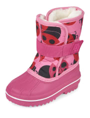 Toddler Girls Ladybug Snow Boots