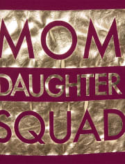 Womens Mommy And Me Foil Squad Matching Graphic Tee