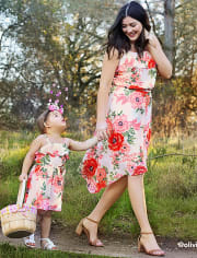Baby And Toddler Girls Mommy and Me Matching Floral Dress