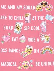 Girls Squad Emoji Graphic Tee