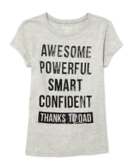 Girls Thanks Dad Graphic Tee