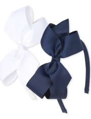 Girls Uniform Bow Headband 2-Pack