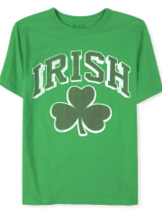 Boys Matching Family Shamrock Graphic Tee