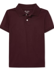 Boys Uniform Soft Jersey Polo