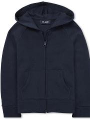 Girls Uniform Fleece Zip Up Hoodie