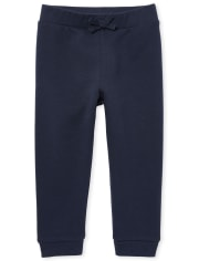 Toddler Girls Uniform Active French Terry Jogger Pants
