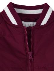 Girls Uniform Bomber Jacket