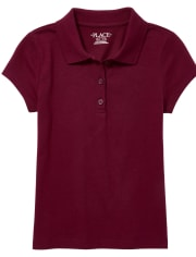 Girls Uniform Soft Jersey Polo