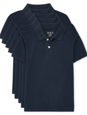 Boys Uniform Pique Polo 5-Pack