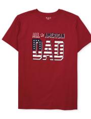 Mens Matching Family Americana Graphic Tee