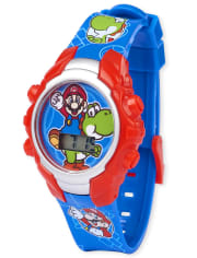 Boys Super Mario Light Up Digital Watch