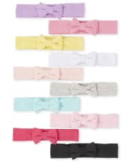 Baby Girls Bow Headwrap 10-Pack