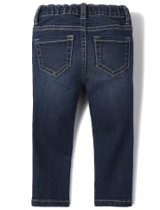 The Childrens Place Girls Baby Dark Wash Jeggings