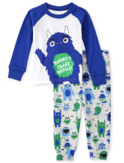 Baby And Toddler Boys Halloween Cuddle Monster Snug Fit Cotton Pajamas