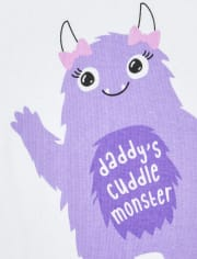 Baby And Toddler Girls Halloween Cuddle Monster Snug Fit Cotton Pajamas