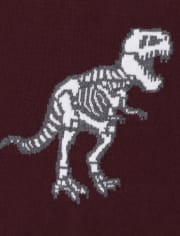 Baby And Toddler Boys Dino Skeleton Sweater
