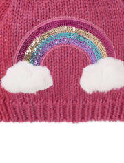 The Childrens Place Girls Toddler Love Pom Beanie and Mittens Set
