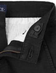 Pantalones chinos ajustados elásticos de uniforme para niños