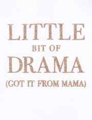 Baby Girls Glitter Drama Graphic Bodysuit