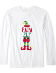 Mens Matching Family Elf Graphic Tee