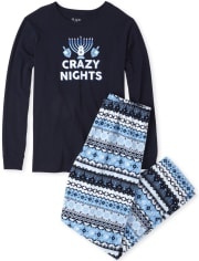Unisex Adult Matching Family 8 Crazy Nights Cotton And Fleece Pajamas