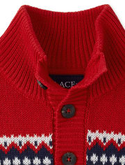 The Childrens Place Boys Toddler Fairisle Mock Neck Sweater