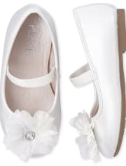 Toddler Girls Iridescent Flower Ballet Flats