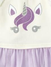 Baby Girls Glitter Unicorn 2-Piece Outfit