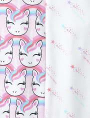 Baby Girls Unicorn Graphic Bodysuit 5-Pack
