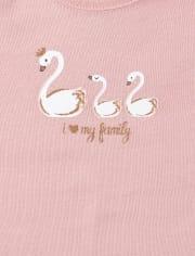 Baby Girls Glitter Swan Graphic Bodysuit 5-Pack
