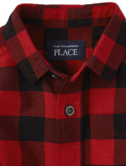 Baby And Toddler Boys Buffalo Plaid Oxford Matching Button Down Shirt