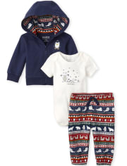 Baby Boys Polar Bear Family 3-Piece Playwear Set